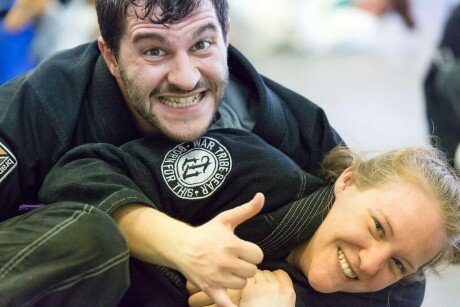 Tessa training with josh BJJ
